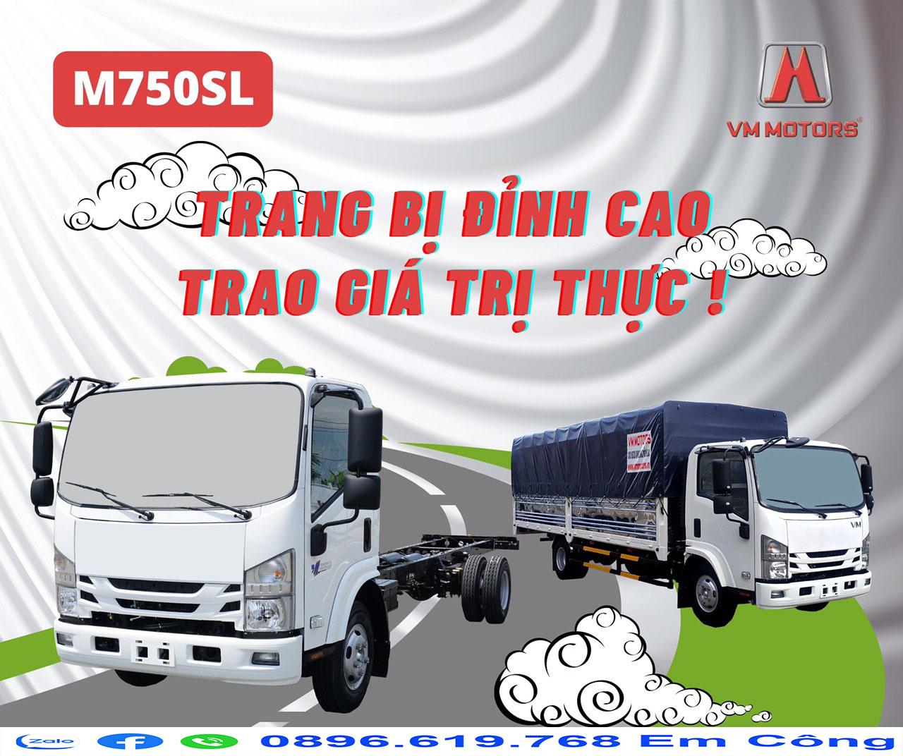Xe tải isuzu m750 thùng dài 6m2